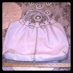 Vintage Michael Kors Off White Leather Bag